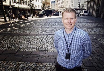 KJAPP: Fredrik Stenevik leide ut et over 3000 kvadratmeter stort kombibygg på under én måned. (Arkivfoto)